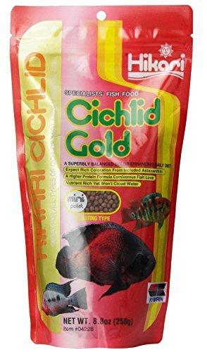 Image of Hikari 8.8-Ounce Cichlid Gold Floating Pellets for Pets, Mini [2-Pack]