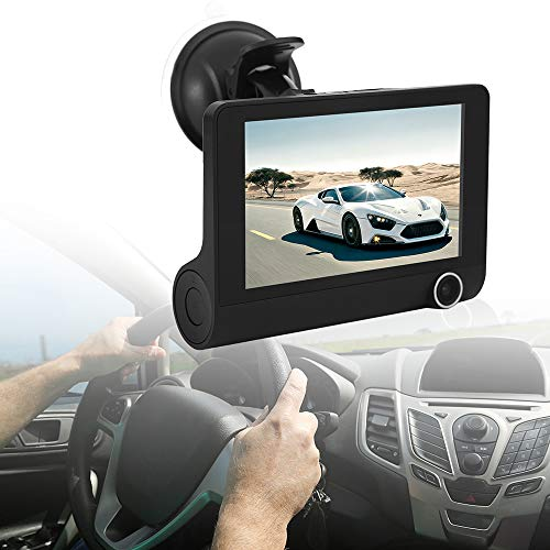 Star-Trade-Inc - 4 inch Car DVR Camera HD 1080P New Dual Lens Vehicle Dash Cam Rear Video G-sensor Camera Recorder DVR Reversing Video Camera