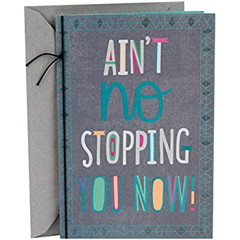 Amazon amazon gift card in a premium greeting card by hallmark mahogany graduation greeting card aint no stopping you m4hsunfo