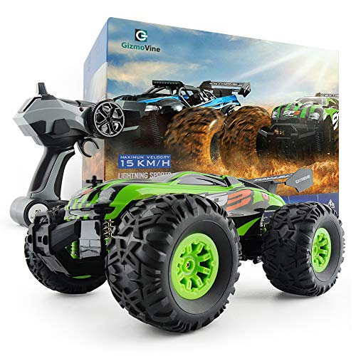 Gizmovine RC Car Toys, Remote Control Monster Truck with 2.4GHz Radio Controlled Vehice Off Road Remote Control Car for Kids and Adults 1/18 Scale (Green)