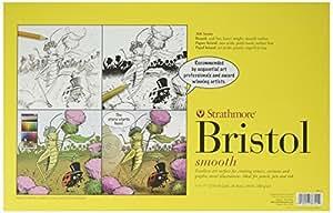"Strathmore STR-346-1 Smooth Bristol (24 Pack), 11 by 17"""