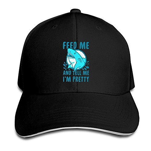 Runy Custom Feed Me And Tell Me I Am Pretty Adjustable Sanwich Hunting Peak Hat & Cap - Boston Best Eyeglasses