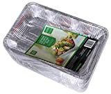 Daxwell Disposable Aluminum Steam Table Pan, Deep, 1/2 Size (4 Packs of 25)