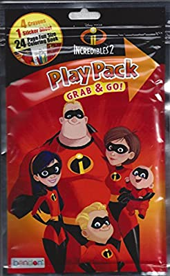 12 Packs Disney Incredibles 2 Grab and Go Play Packs Bundle Party Favors an...