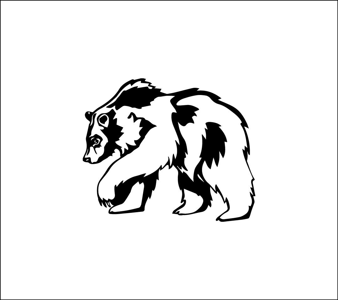Amazon com elma332tuttle bear silhouette decal masculine vinyl car decal yeti decal for guys grizly tumbler decal decal sticker for men black bear truck