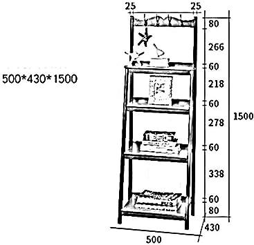 MDD Estante Almacén de múltiples capas Escalera de madera Librería de escalera, estante de escalera, estante de pared, perchero Almacenamiento de estante de exhibición con estante de gancho Ahorro de: Amazon.es: Bricolaje