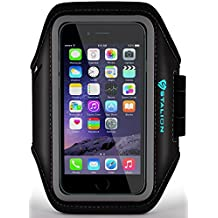iPhone 5 5S 5C Armband : Stalion Sports Running & Exercise Gym Sportband (Jet Black) Water Resistant + Sweat Proof + Key Holder