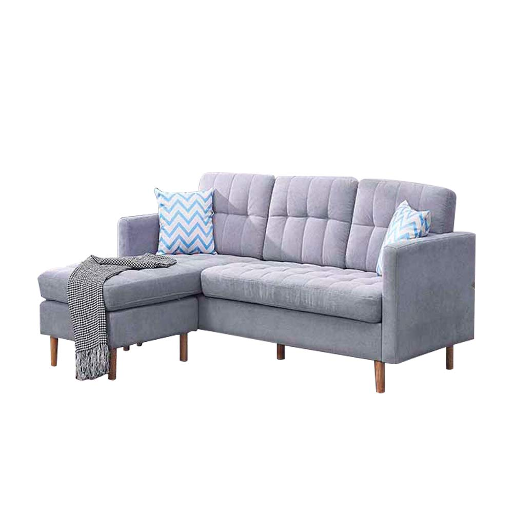 Romatlink Multifunctional Large Corner Sofa Fabric Settee Left Hand Right  Hand Living Room Furniture Grey L Shaped Sofa Settee Left or Right Chaise  ...