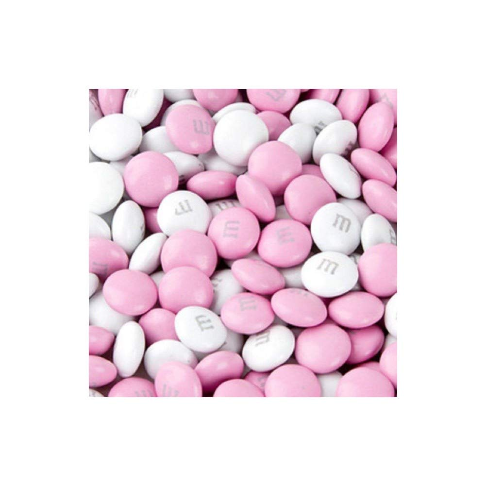 M&M's Light Pink & White Milk Chocolate Candy 5LB Bag by M&M'S