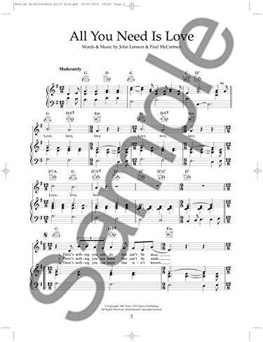 The Beatles: Gold. Partituras, CD para Piano, Voz y Guitarra ...