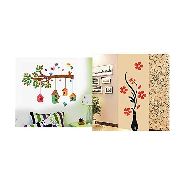Bird House on a Branch Flowers PVC Vinyl Decals Design Wall Sticker
