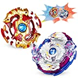 Bey Battling Top Burst Evolution Combination 4D Series, 2pcs Speed Gyro Metal, 2 throwers Set with Launcher Blade Set, Battle Set Classic Toys for Adult Children(Upgraded Bey 2 Set)