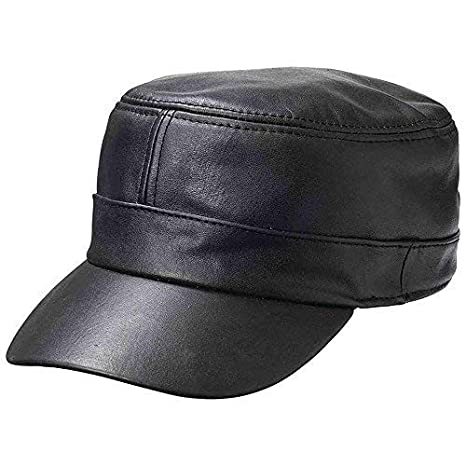 90621e90f6b0a Casual Outfitters Solid Genuine Lambskin Leather Cap at Amazon Men s  Clothing store  Baseball Caps