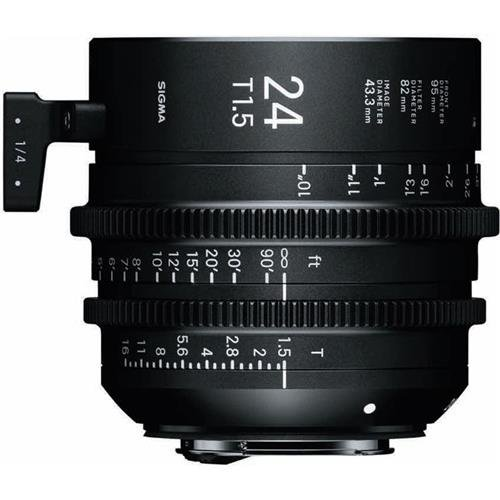Sigma T1.5 Cine 24mm Full Frame High Speed Prime Lens with Canon EF Mount, 10'' Close Focus Distance by Sigma
