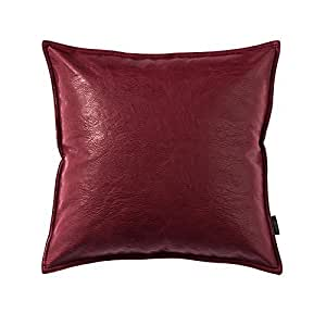 Red Leather Decorative Pillow : Amazon.com: OJIA Deluxe Home Decorative Soft Faux Leather Throw Pillow Cover Cushion Case (18 x ...