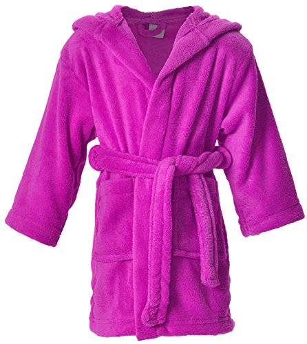Simplicity Boys Girls Bath Robe and Cover up,Fuchsia,4-6 Years