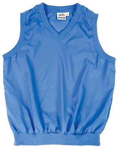 Akwa Made in USA Men's Microfiber Water Repellent V-Neck Pullover Vest French Blue (Blue Microfiber Pullover)