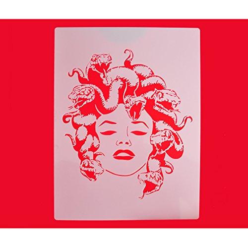 FOUR-C Cupcake Stencils Design of Medusa Cookie and Coffe...