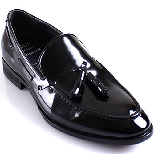 JustOneStyle New Mooda Modern Formal Tassel Loafers Slips on Leather Men Dress Shoes (10.5, -