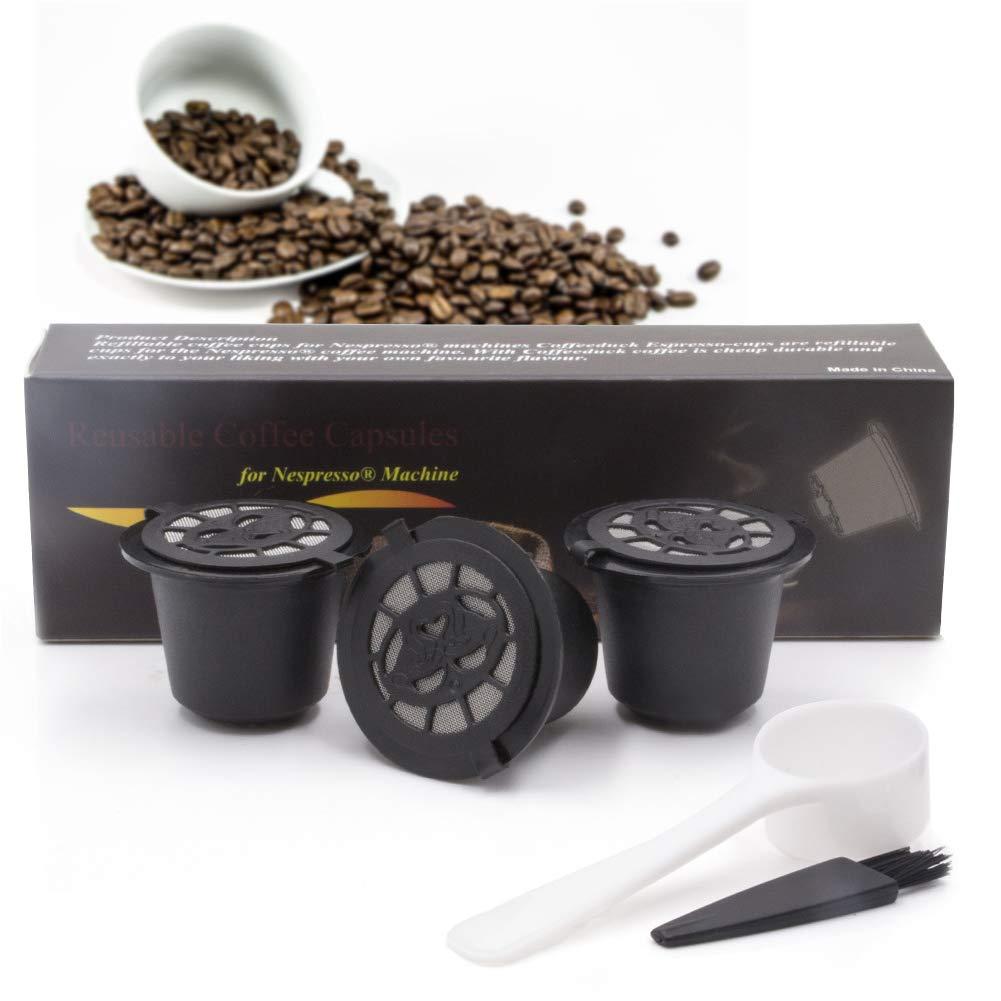 Amyove 再利用可能な家庭用詰め替え可能フィルターカプセル シェル充填カップ コーヒーフィルターポッド 4個   B07L8GPYGR