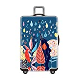 Luggage cover 18/24/28/32 Inch Travel Luggage Cover Protective Washable Spandex Suitcase Cover For Women And Men Luggage cover elastic bag protector ( Color : Underwater World , Size : L(25''-28'') )