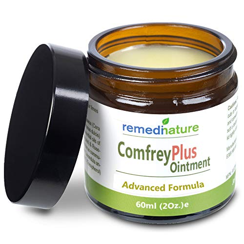 - Remedinature Comfrey Plus Ointment, Natural Body Muscle Joint Skin Balm, 2 Ounce