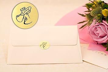 festive labels 210x wedding bells metallic gold wedding