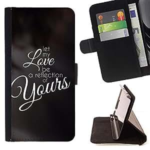 Momo Phone Case / Flip Funda de Cuero Case Cover - BIBLIA Let My Love ser un reflejo de los suyos; - Samsung Galaxy Note 4 IV