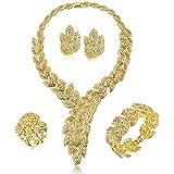 Moochi 18K Gold Plated Scarf-Shaped Crystal...