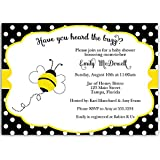 Amazon bumble bee baby shower invitations fill in style 20 bumble bee baby shower invitations neutral yellow black white polka filmwisefo