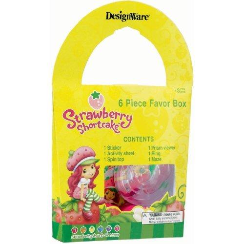 (Strawberry Shortcake Birthday Party Supplies - 6 Piece Favor Box)