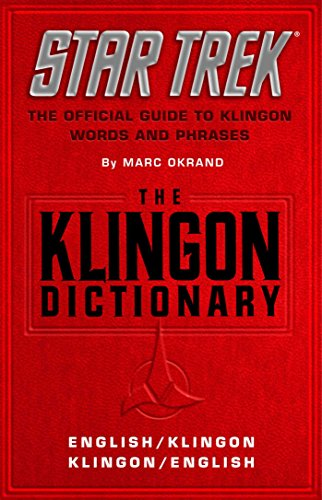 - The Klingon Dictionary: The Official Guide to Klingon Words and Phrases (Star Trek)
