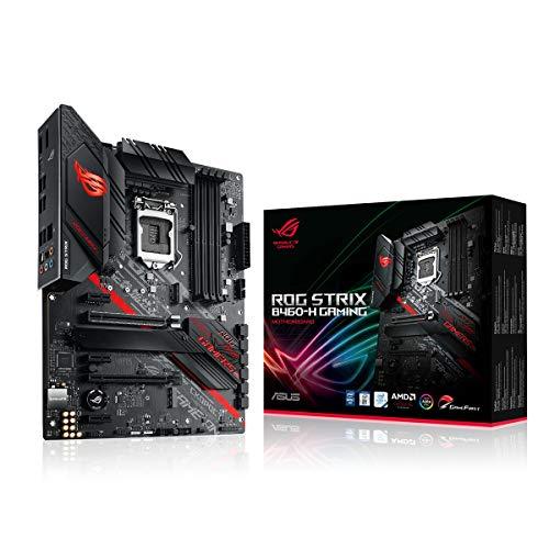 ASUS ROG Strix B460-H Gaming - Placa Base Gaming ATX Intel de 10a Gen LGA 1200, Dual M.2, DDR4, LAN 1Gb, HDMI, DP, USB 3.2 Gen 2, USB de Tipo C, Thunderbolt 3 e iluminación RGB Aura Sync