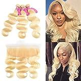 Best Hair Weave Blonde 3 Bundles - 613 Blonde Bundles with Frontal 3 Bundles Review