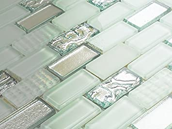 Fesselnd Luxus Glas Mosaik Weiß Volcano Ziegel Fliesen Badezimmer Küche Qualität  Produkt U2013 Probe