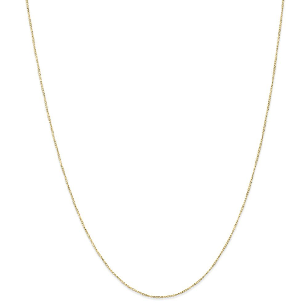 Mia Diamonds 10k Yellow Gold .5 mm Carded Curb Chain Necklace