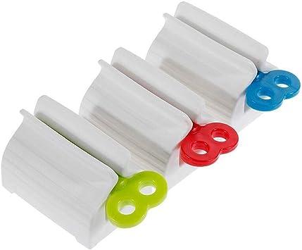 EOPER Paquete de 3 exprimidores multiusos de tubo dispensador de pasta de dientes para baño, tinte para el cabello, cosméticos, exprimidor de pintura ...