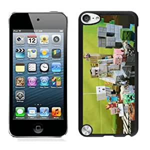 Unique And Lovely Designed Cover Case For iPod Touch 5 With Minecraft Game Black 026 Phone Case