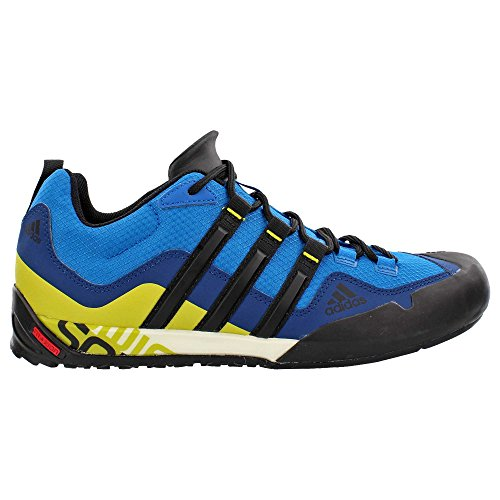 7cf374b0f adidas outdoor Men s Terrex Swift Solo Unity Blue Black Unity Lime Sneaker  11.5 D (M) (B018WFVWDI)