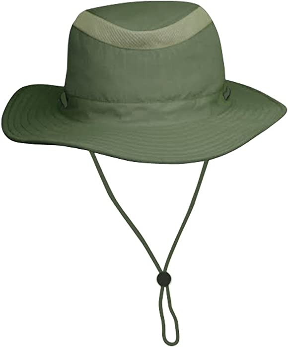 63efeb52aa9 Unisex Safari Sun Bucket Hat with Hidden Cash Card Pocket - Lightweight -  100%