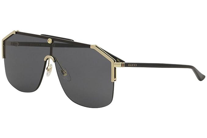 7d0e250e9b GUCCI GG0291S 001 GOLD BLACK GREY oro nero grigio: Amazon.it: Abbigliamento