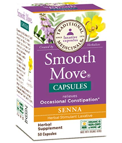 Traditional Medicinals - Smooth Move Senna, 50 capsules (Capsules Smooth Move)