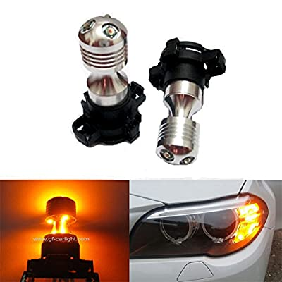 GFJMC Amber Yellow Error Free Cree PY24W LED Bulbs for BMW E92/E93 3 F10/F07 5 Series E70 X5 E71 X6 Z4: Automotive