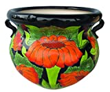 Cheap TALAVERA PLANTER WITH SUNFLOWERS (LARGE)