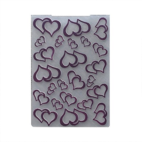 A2 Card Embossing Folder (DIY Cutting Dies Template Stencil ,Patgoal Plastic Embossing Folder for Scrapbook Paper Crafting Note)