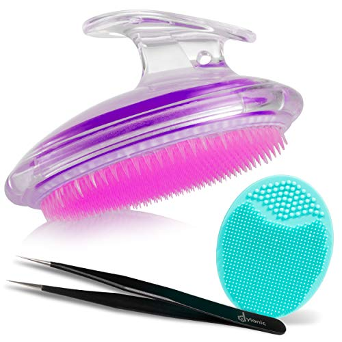 Nice Scrubber, brush, and tweezers set!