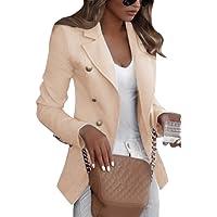 Shallood Mujer Blazer Traje De Chaqueta Ropa Trabajo Casual OL Oficina Negocio Solapa Manga Larga Slim Fit