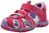 Apakowa Kids Girls Soft Sole Closed Toe Sandals Summer Shoes with Arch Support