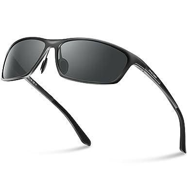 280c2c2f98 PAERDE Fashion Polarized Sunglasses for Men Driving Sun Glasses Al-Mg Metal  Frame  Amazon.co.uk  Clothing