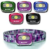 Blitzu i2 Waterproof LED Headlamp with Red Light, Acai Purple